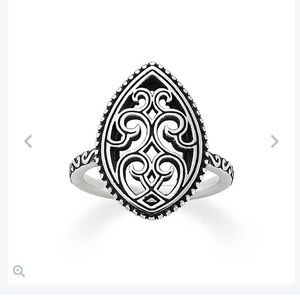 James Avery Beaded Marquis Ring Sterling Silver